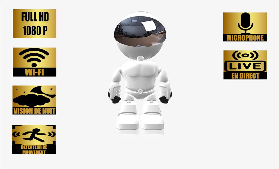 Robot Caméra espion 1080P