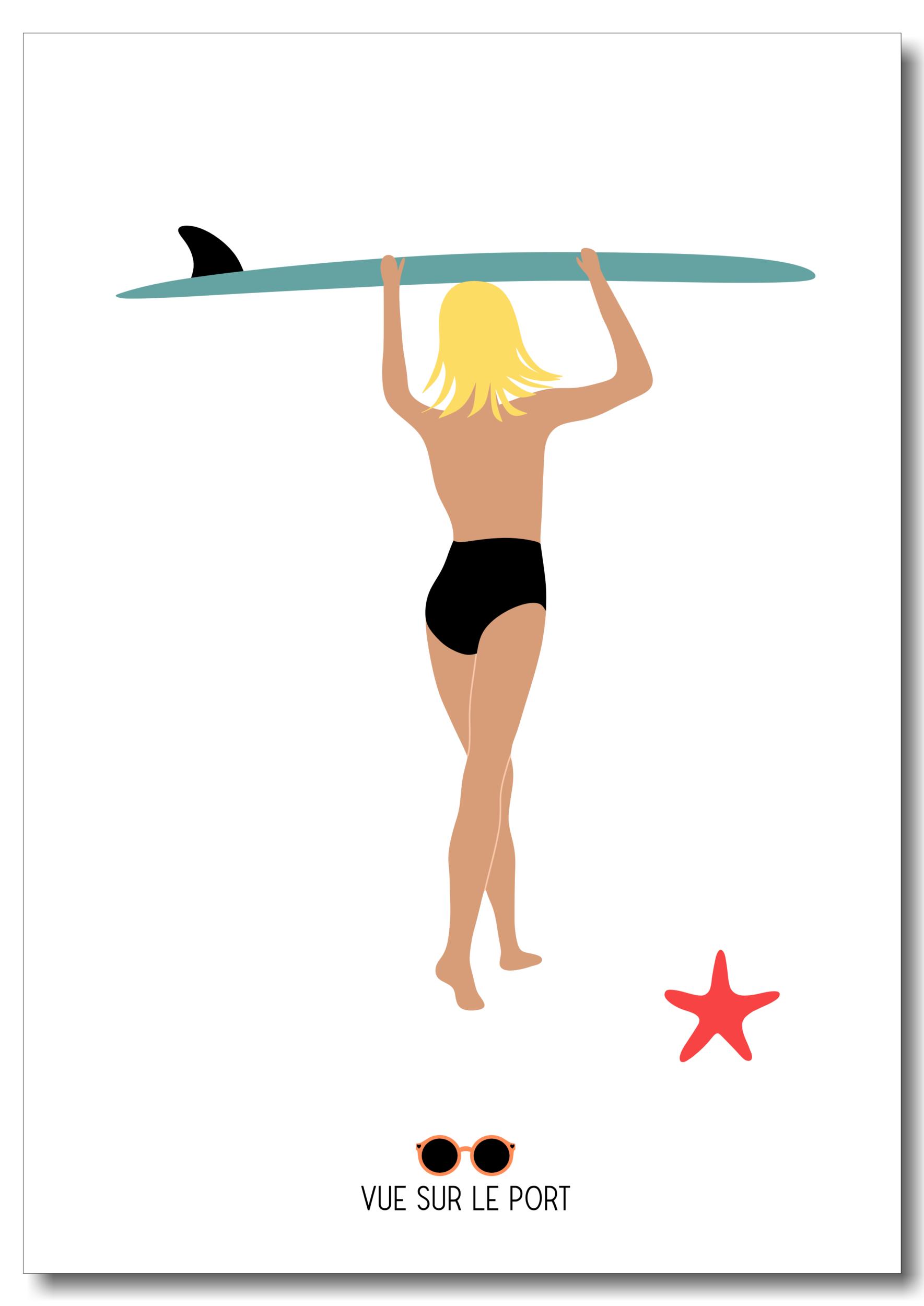 Affiche surfeuse