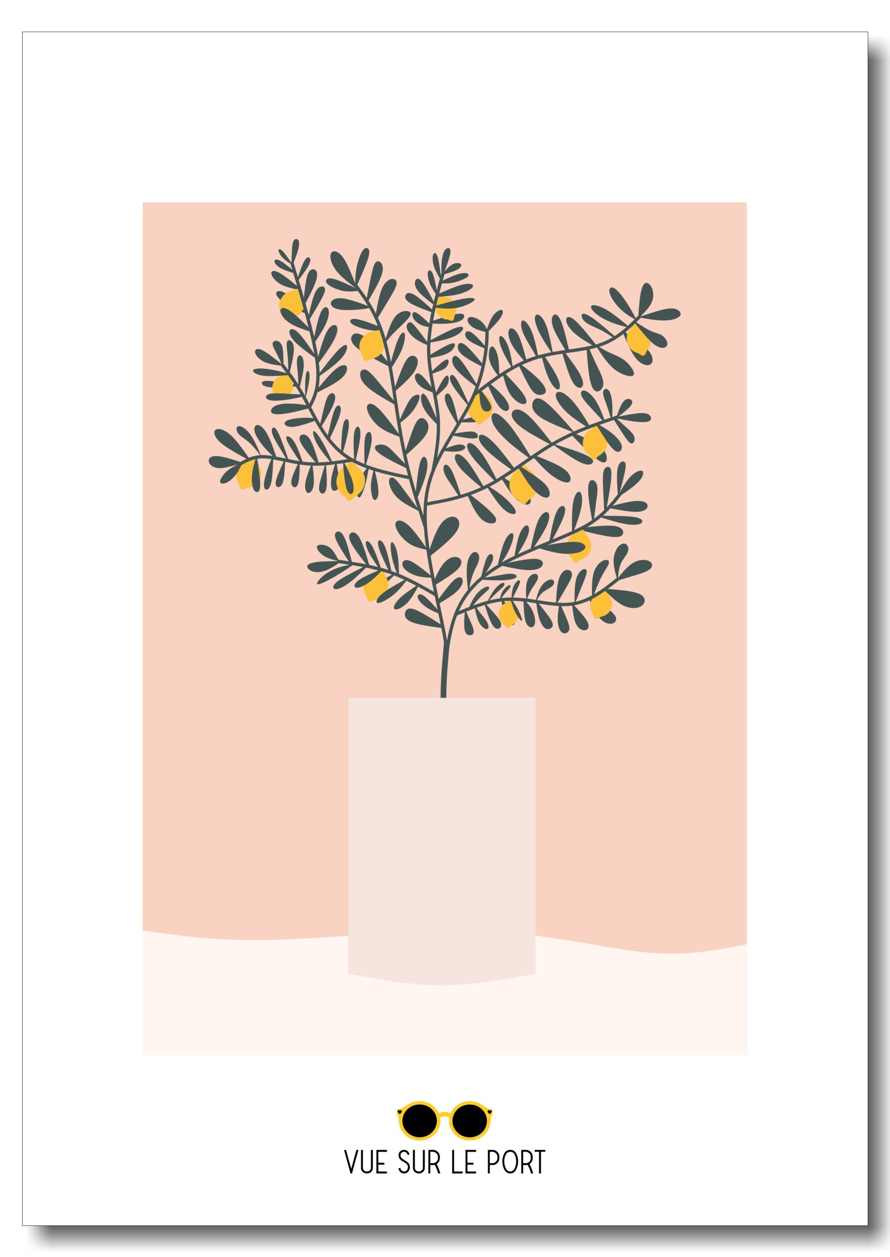 Affiche citronnier