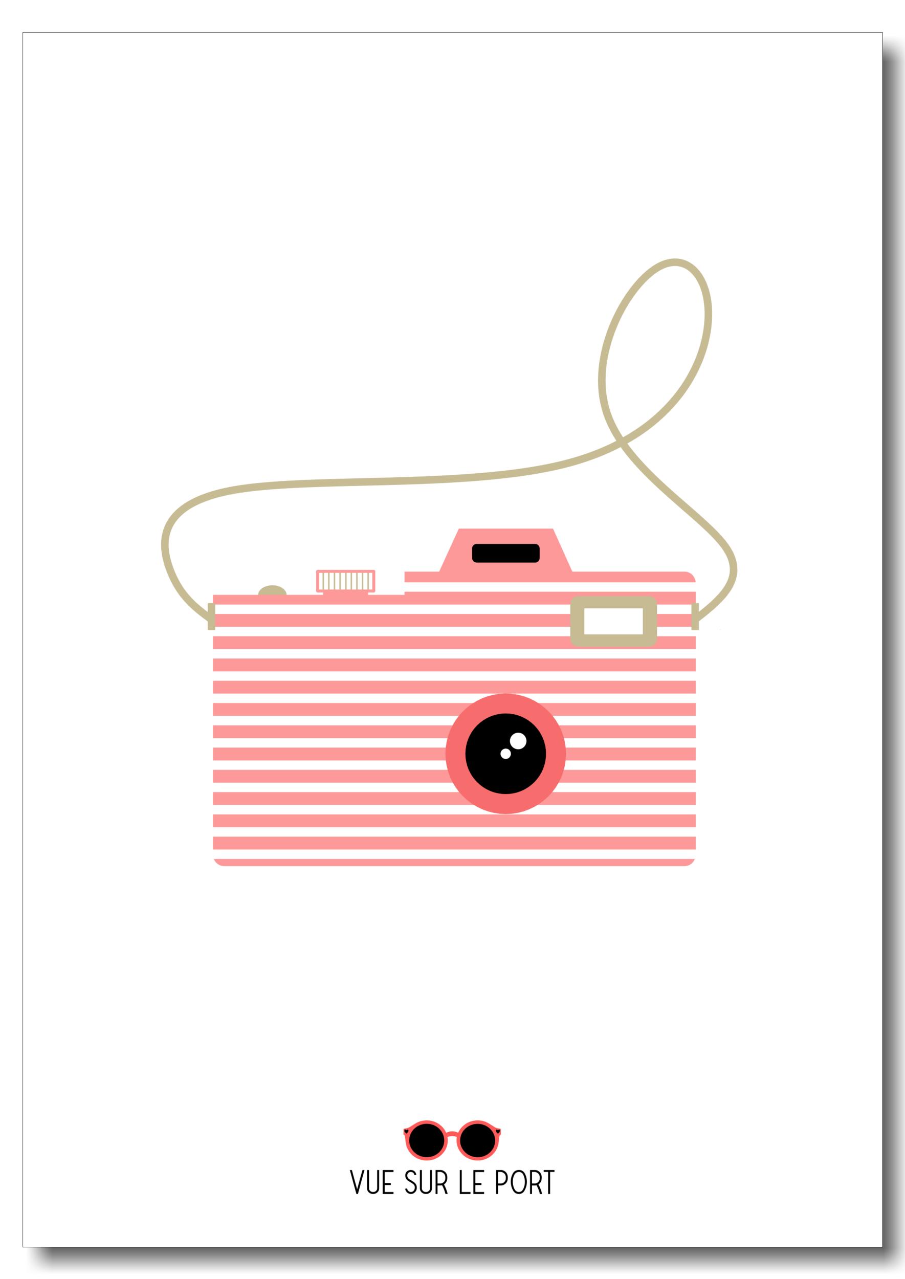 Affiche appareil photo