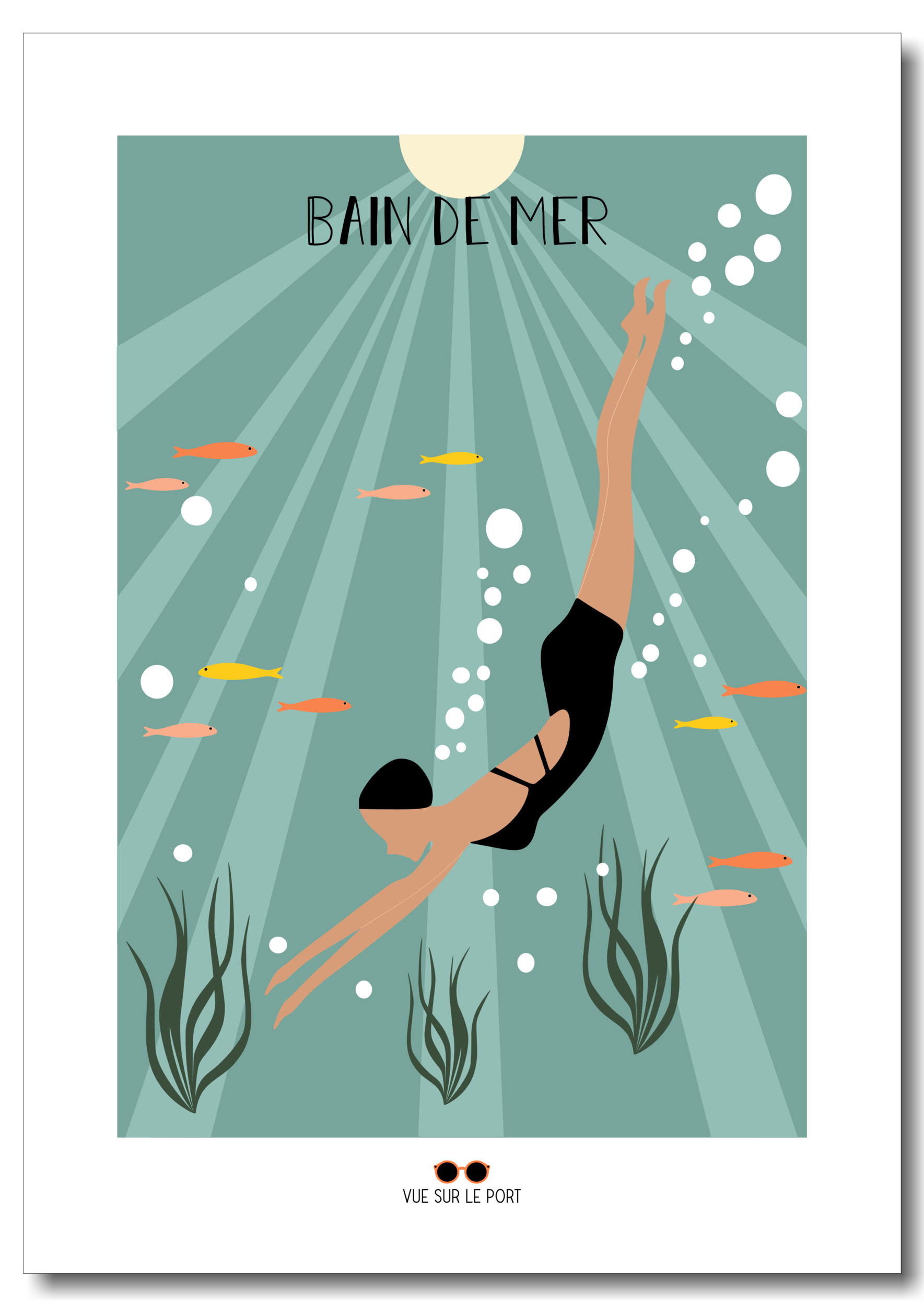 Affiche Bain de mer