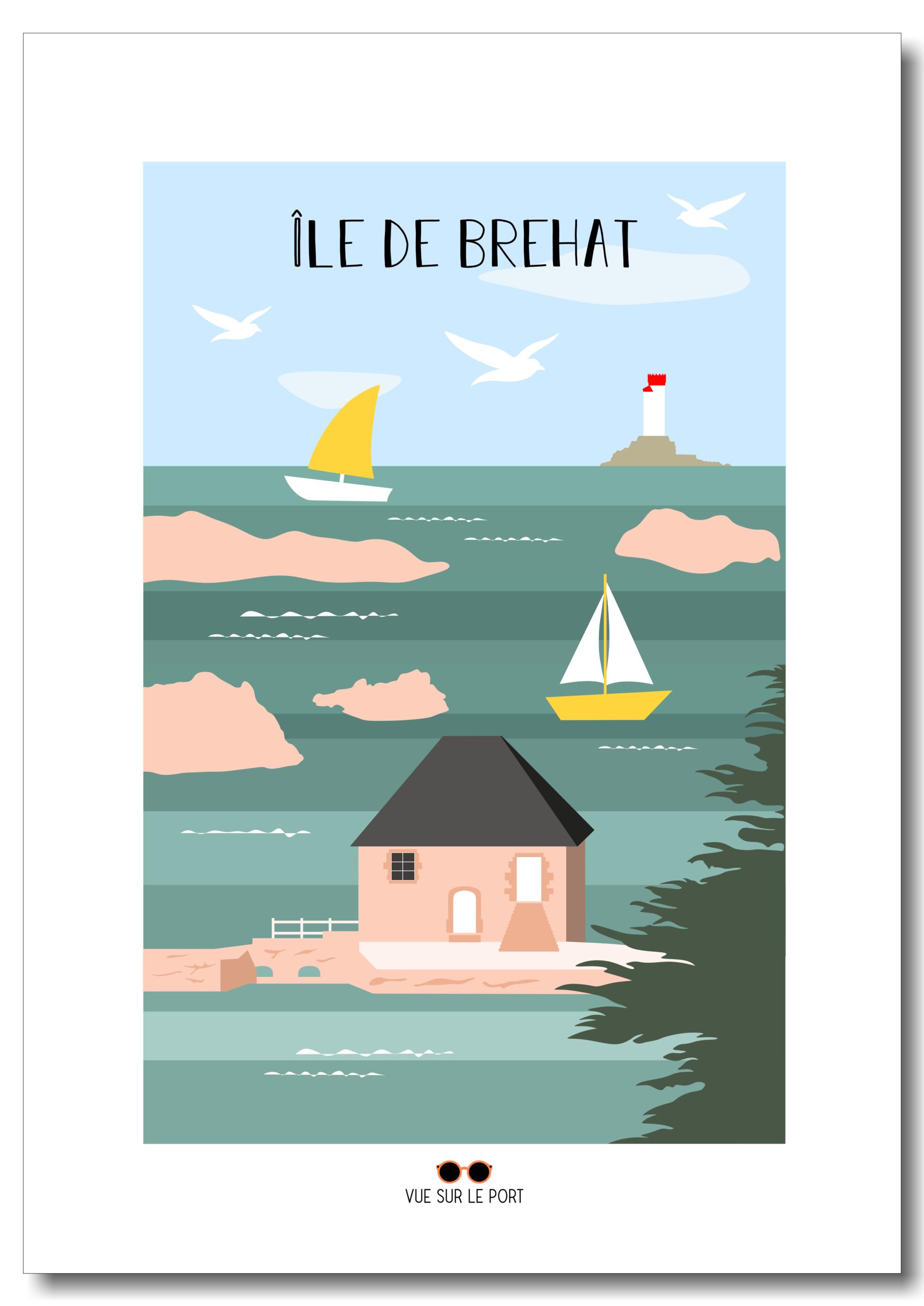 Affiche Île de Brehat
