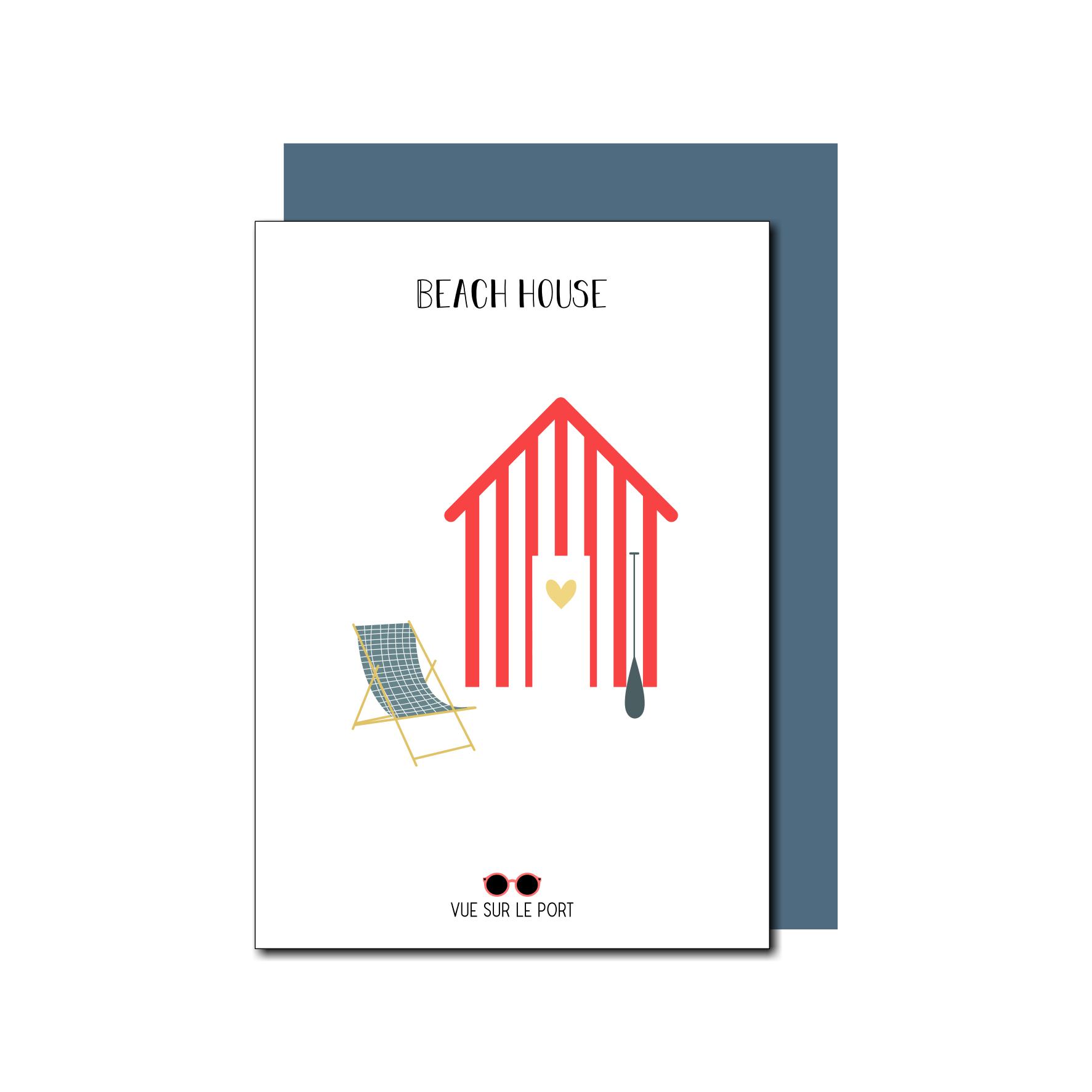 Carte Cabine de plage