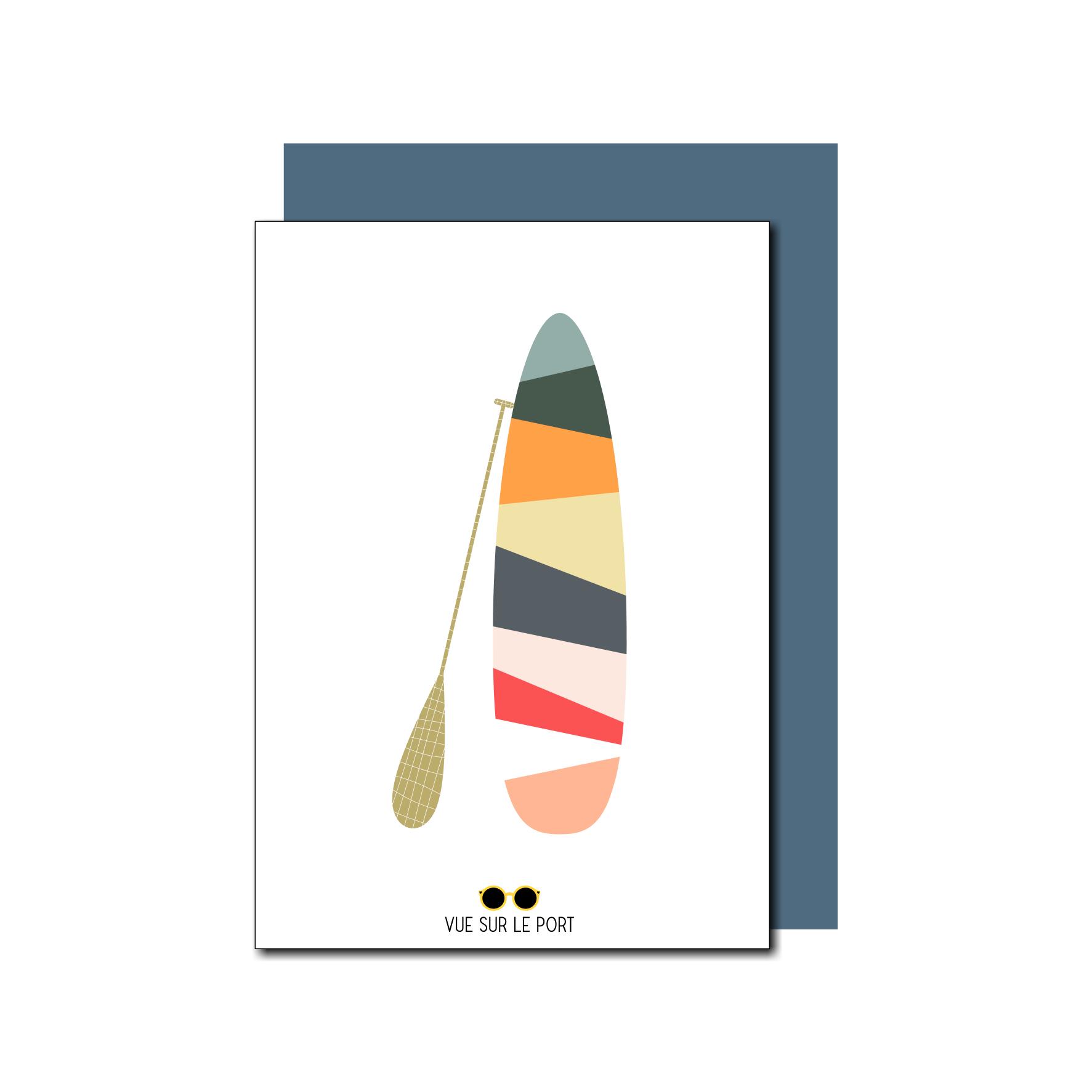 carte paddle coloré