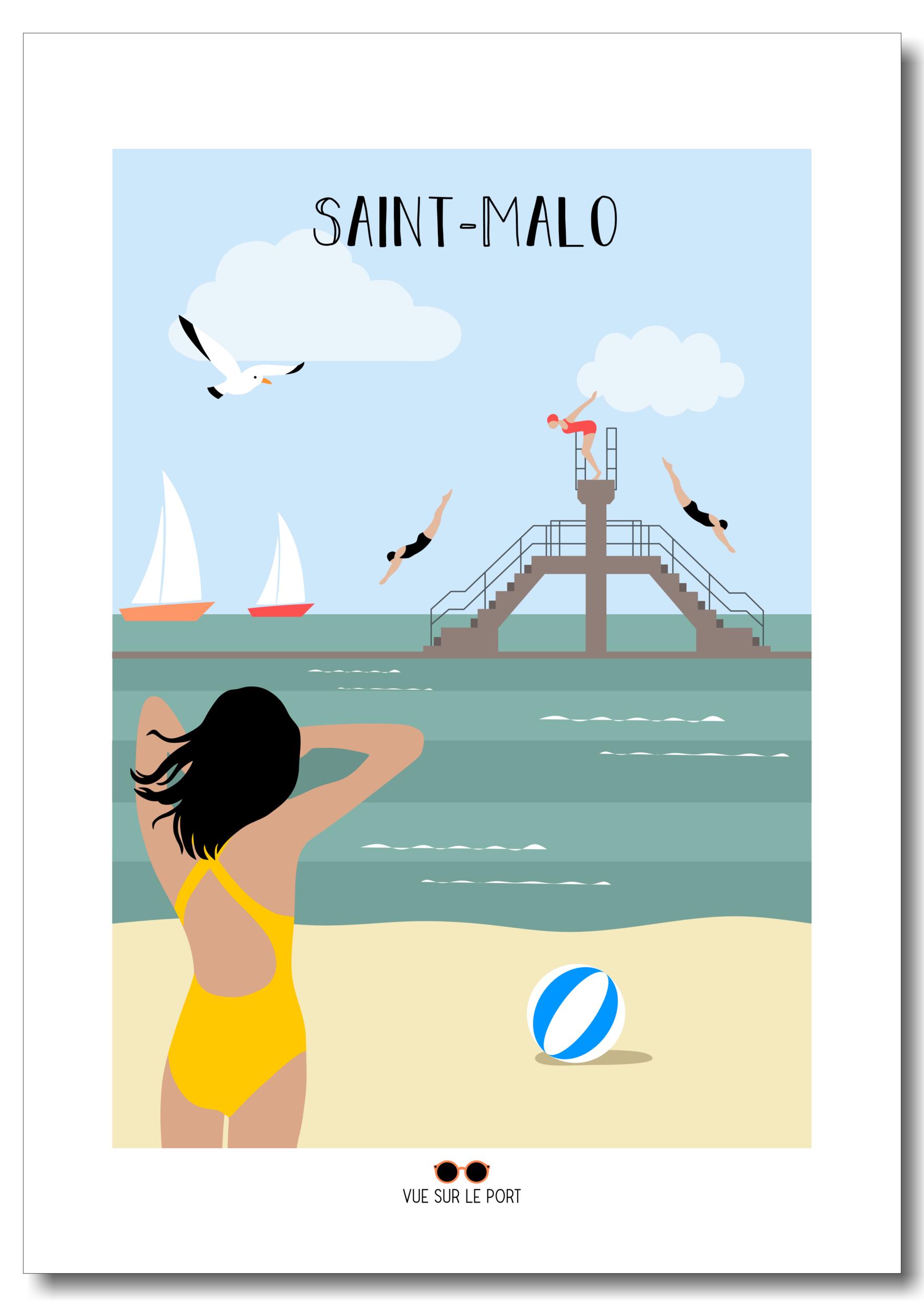 Affiche Saint-Malo