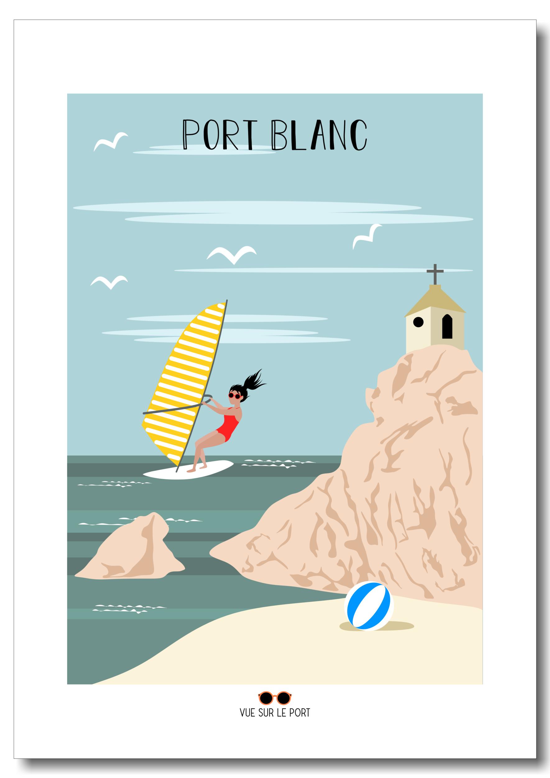 Affiche Port Blanc