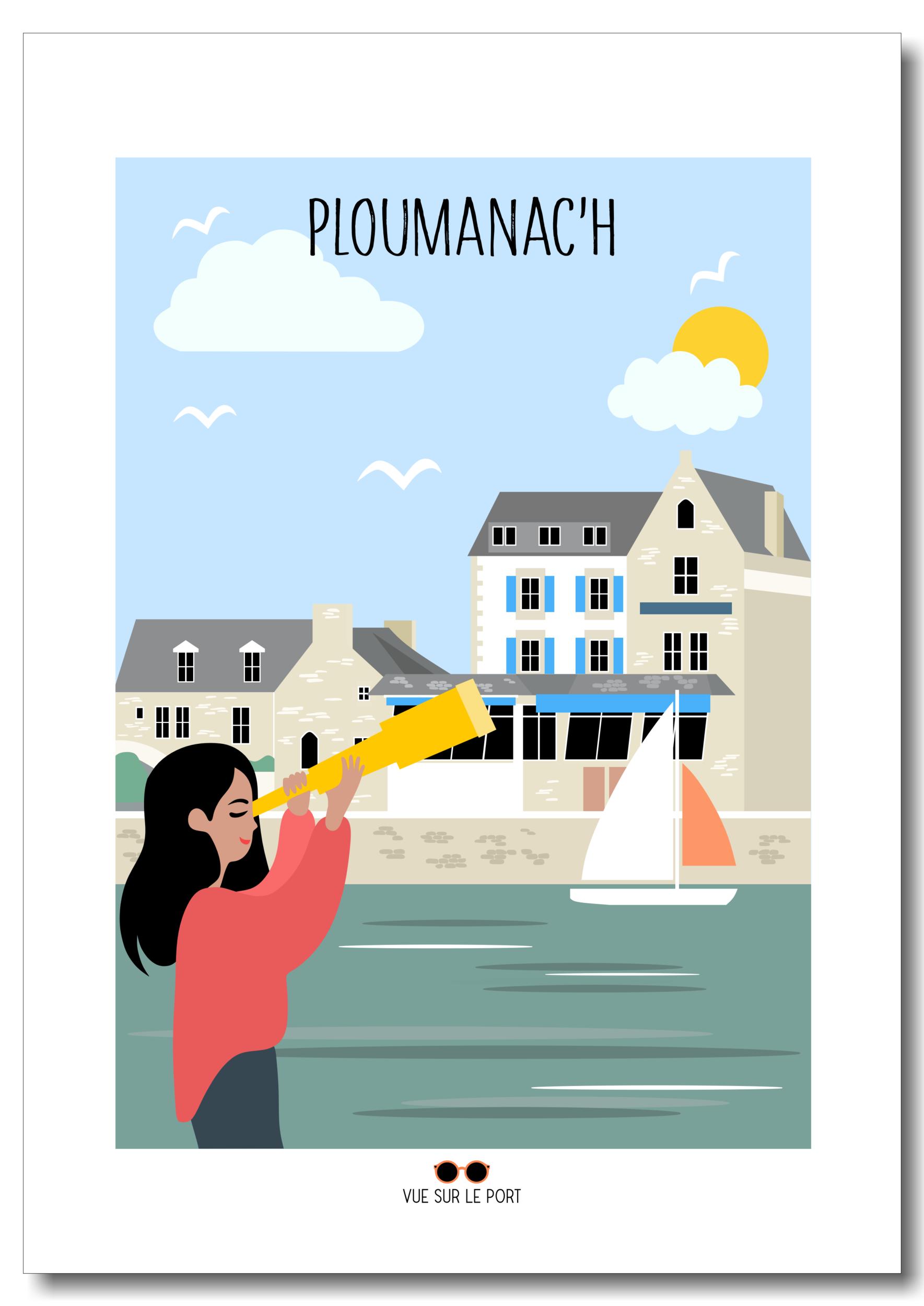 Affiche port de Ploumanach