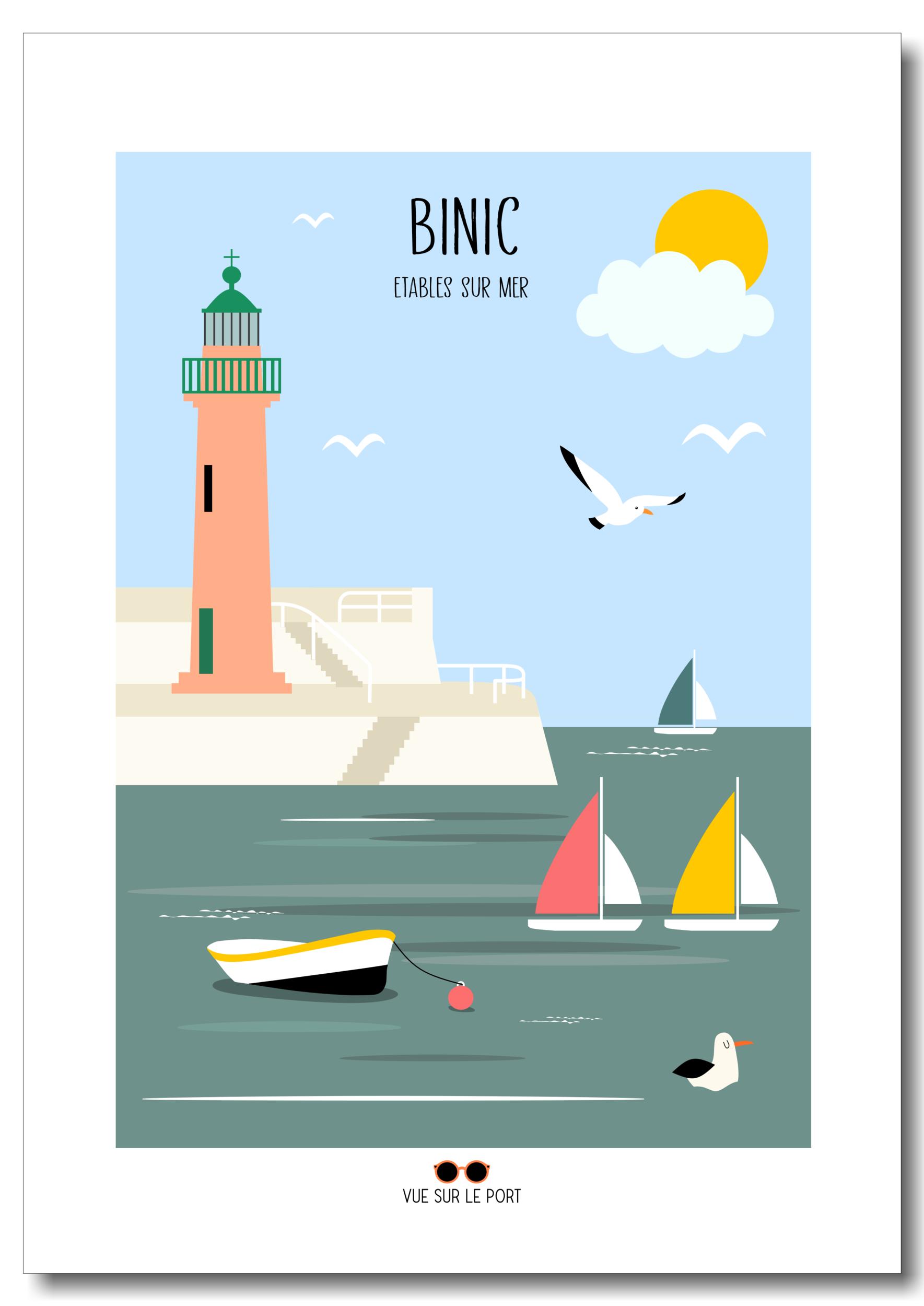 Affiche Binic / Etables sur mer