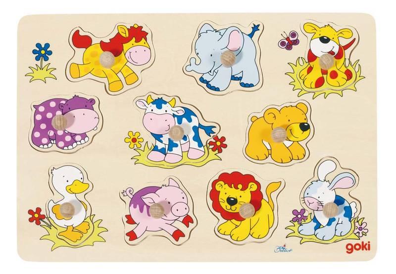 Puzzle en bois Bébés animaux GOKI