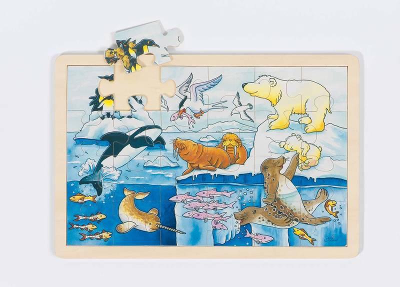 Puzzle en bois Animaux polaires GOKI