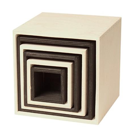 Grands cubes à empiler Monochrome Grimm\'s