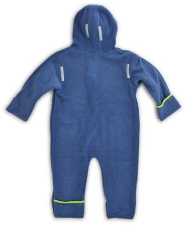 Hoppediz combinaison en laine polaire Bleu-Vert