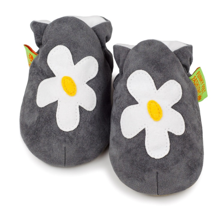 Chaussons FunkyFeet Grey Flower
