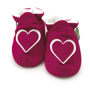 FunkyFeet Chaussons Hot Pink Heart