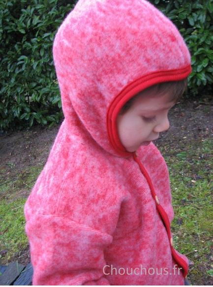 Cosilana Gilet avec capuche Rouge