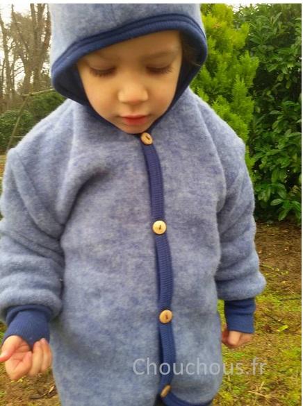 Cosilana gilet avec capuche Bleu