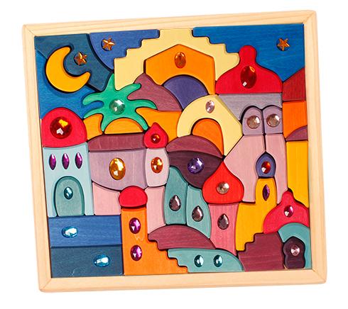 Puzzle et construction Moyen-Orient avec Pierres brillantes