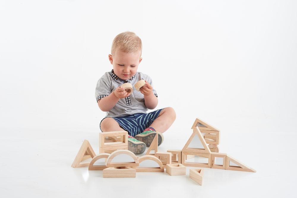 TickiT Cubes de construction Miroir - 24 pièces