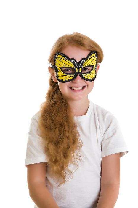 Masque papillon jaune - Dreamy Dress-Ups