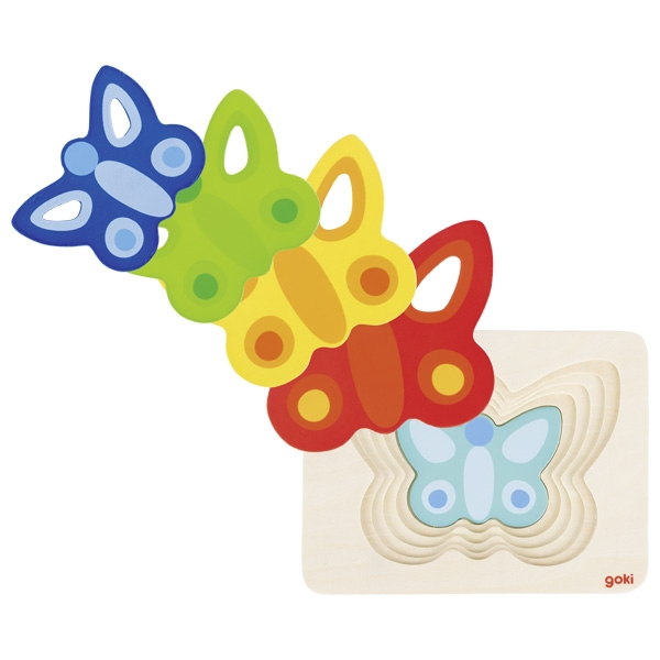 Puzzle Papillons 5 couches GOKI