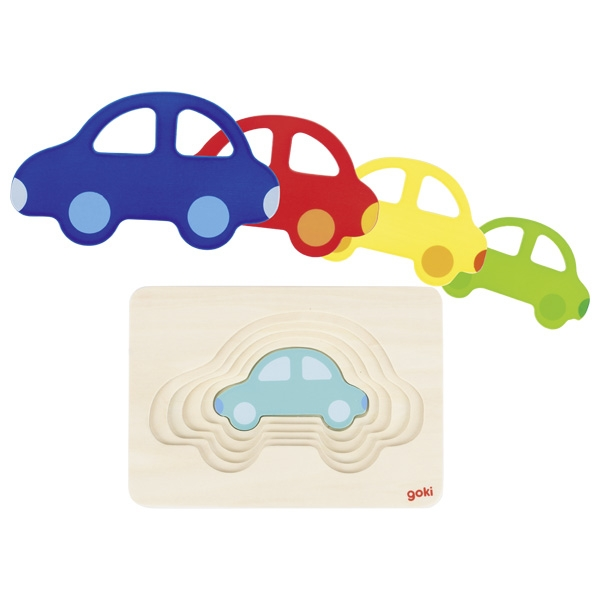 Puzzle voitures 5 couches GOKI