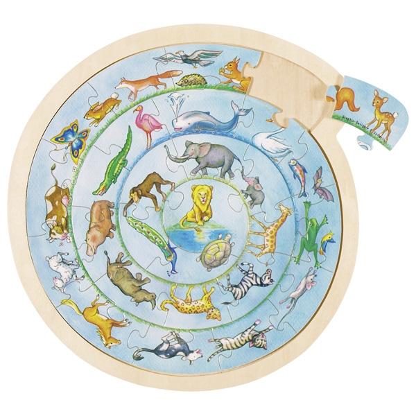 Puzzle la ronde des animaux GOKI
