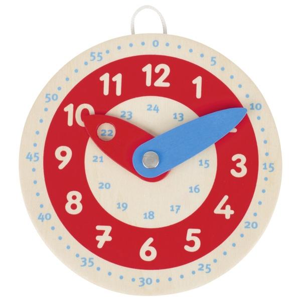Petite horloge en bois pour apprendre l\'heure GOKI