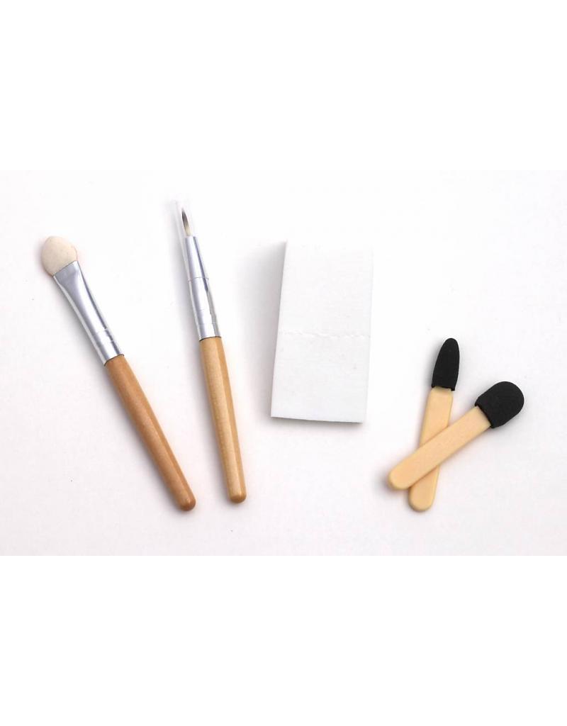 Lot 5 applicateurs maquillage pinceaux & éponge - Natural Face Paint