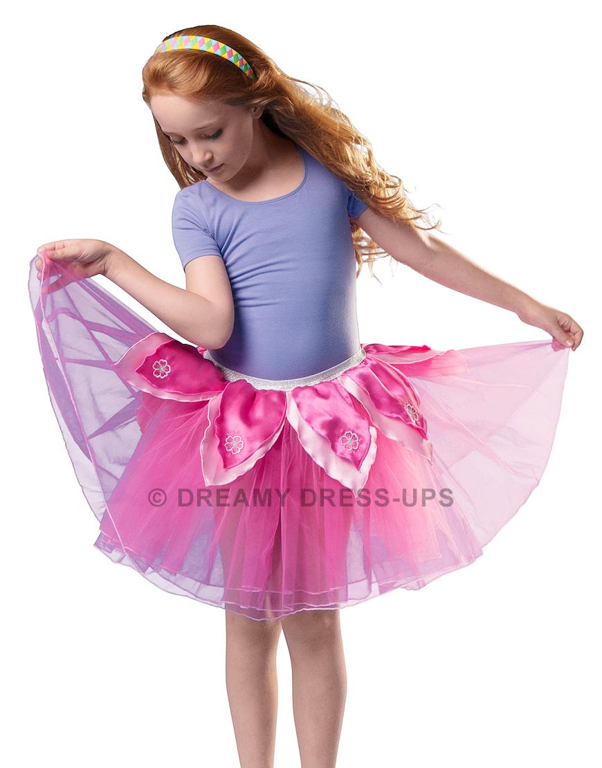 Tutu fleur rose vif/rose Dreamy Dress Ups