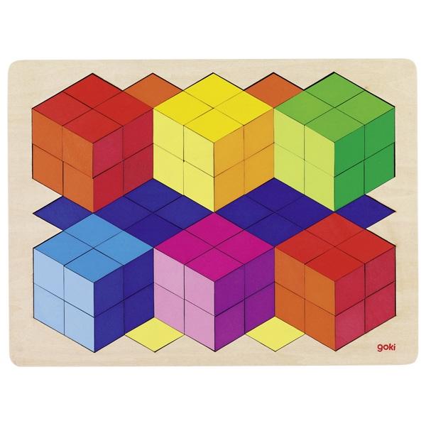 Puzzle bois effet 3D 86 pièces GOKI