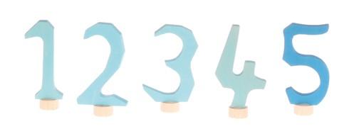 Figurines en bois Chiffres bleus de 1 à 5 Grimm\'s