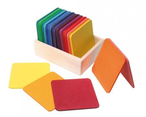 Plaques-carrées-en-bois-20-pièces-pour-construction-Grimms-Copie