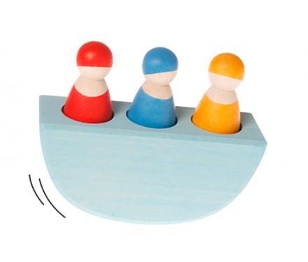 3 amis de couleur dans un bateau GRIMM\'s