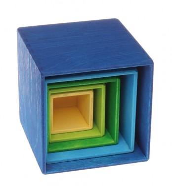 Cubes à empiler Bleu GRIMM\'s