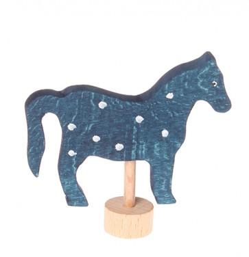 Figurine en bois Cheval bleu GRIMM\'s