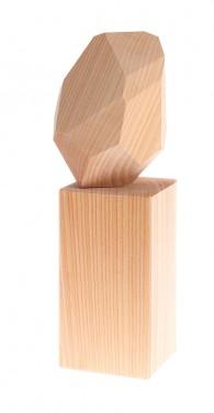 Pierre précieuse en bois naturel + stèle GRIMM\'s