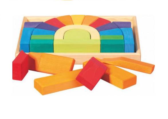 Jeu de construction Pont coloré Glückskäfer