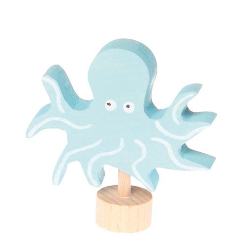 Figurine en bois Pieuvre Grimms