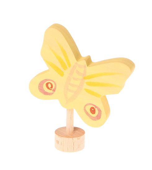Figurine en bois Papillon jaune Grimm\'s