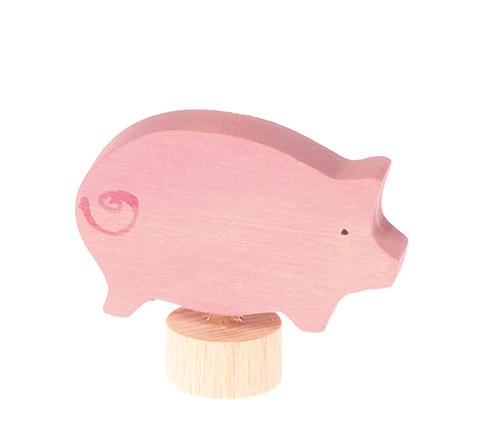 Figurine en bois Cochon Grimm\'s