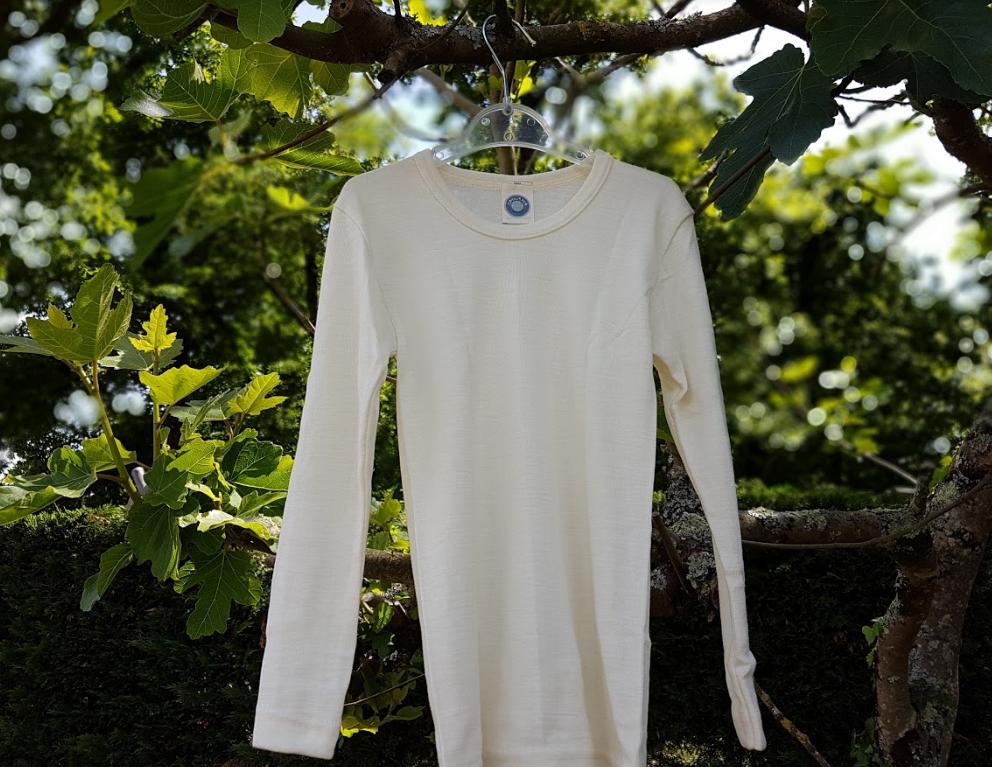 Cosilana T-shirt manches longues Enfant Ecru - Laine/soie