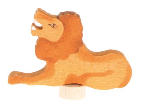 Figurine en bois Lion (peint main) Grimm\'s