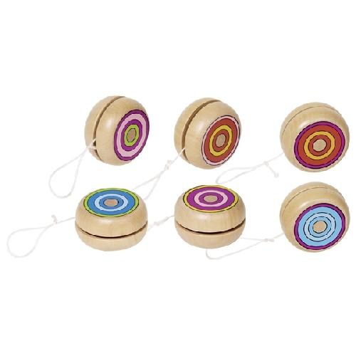 Yo-Yo anneaux colorés en bois GOKI