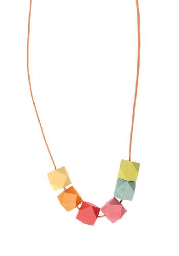 Collier pierres précieuses en bois Pastel Grimm\'s