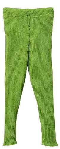 Leggings en laine tricoté Vert Pomme Disana