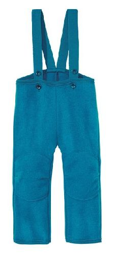 Pantalon en laine bouillie Bleu Disana