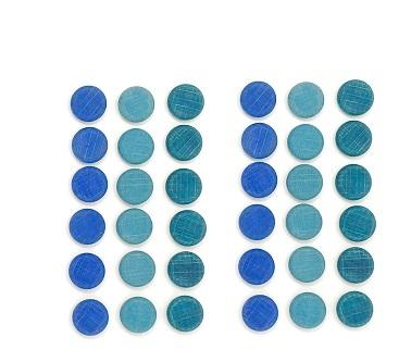 Mandala Mini pièces en bois - lot de 36 Grapat