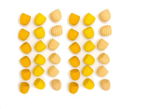 Mandala Petit pot de miel jaune en bois - Lot de 36 Grapat