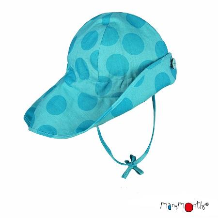 Chapeau d\'été ManyMonths Big Dots Turquoise