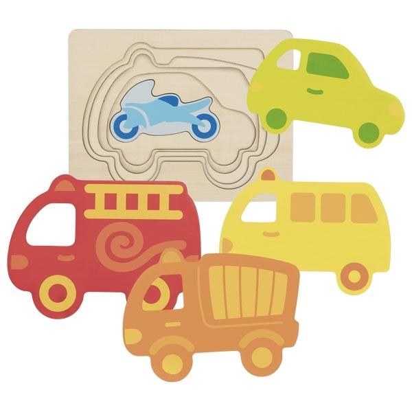 Puzzle à couches véhicules Goki